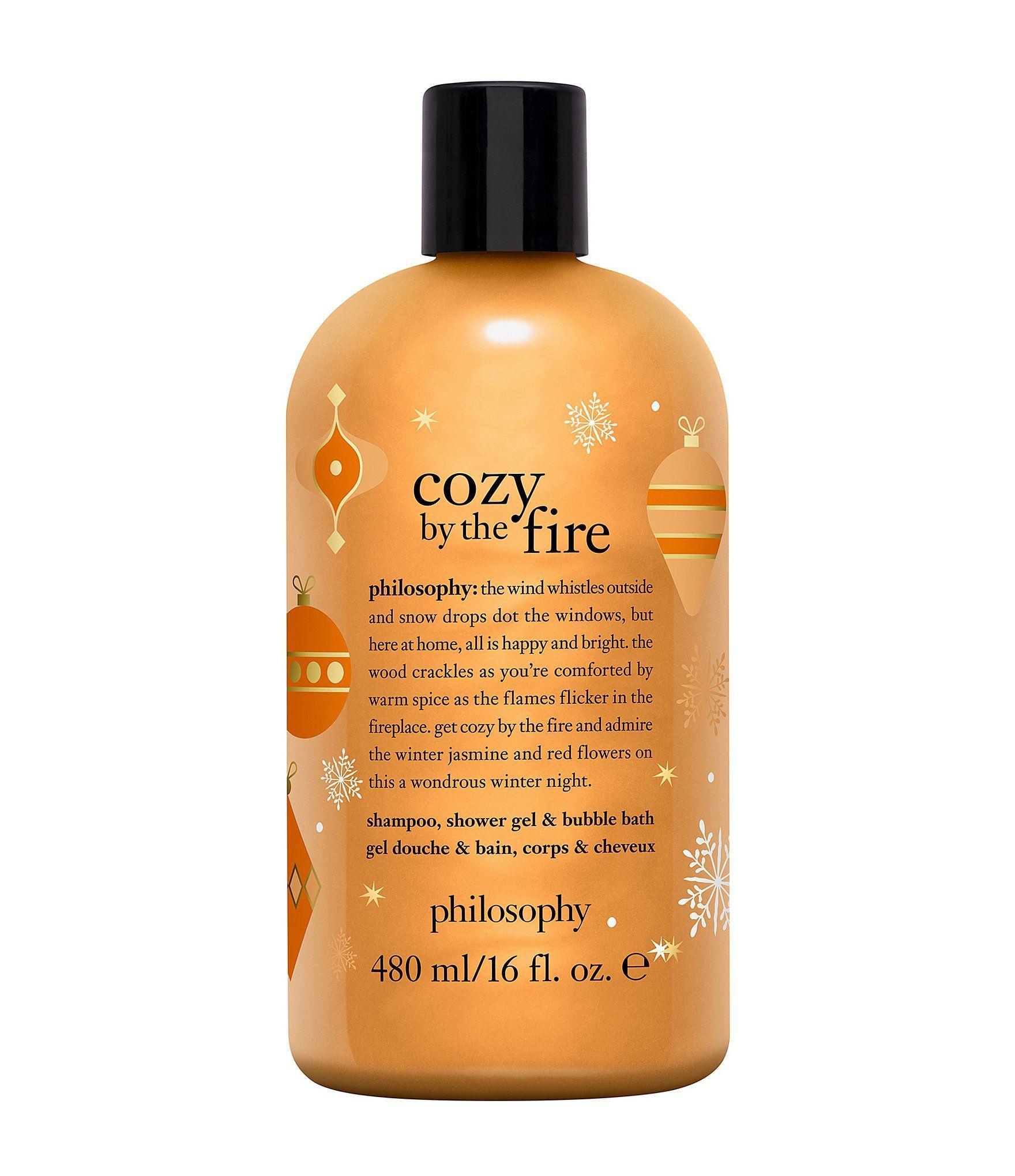 Philosophy Cozy By The Fire Shampoo Shower Gel Bubble Bath Limited Edition Dillard S In 2021 Philosophy Shower Gel Shower Gel Shampoo