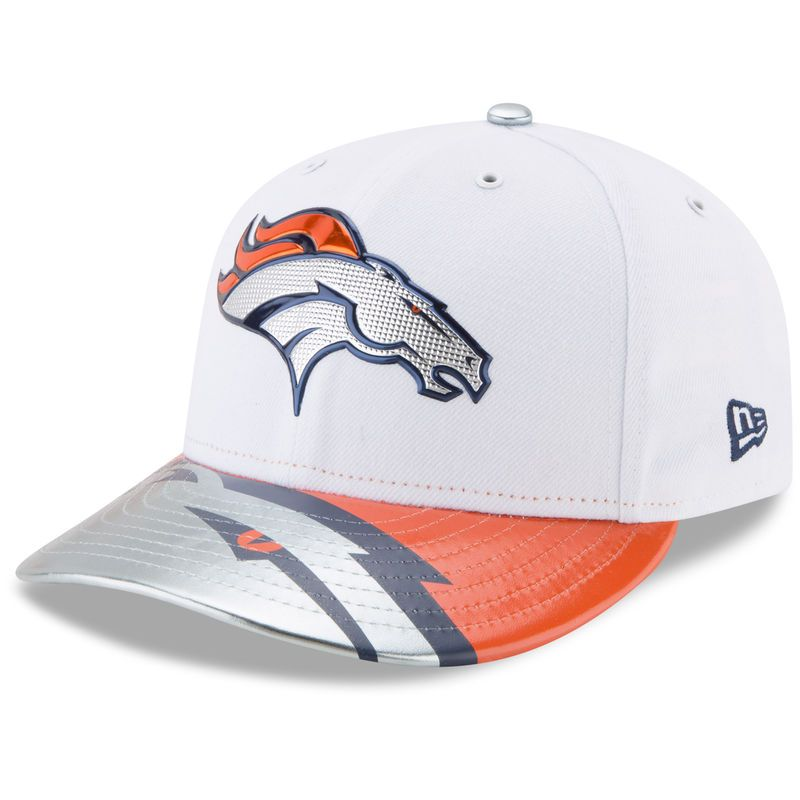 fc3d3e050e50c6 Denver Broncos New Era 2017 NFL Draft On Stage Low Profile 59FIFTY Fitted  Hat - White