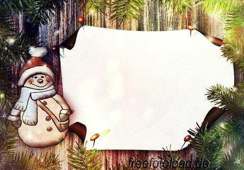 Pinnwand Leuchtender Schneemann