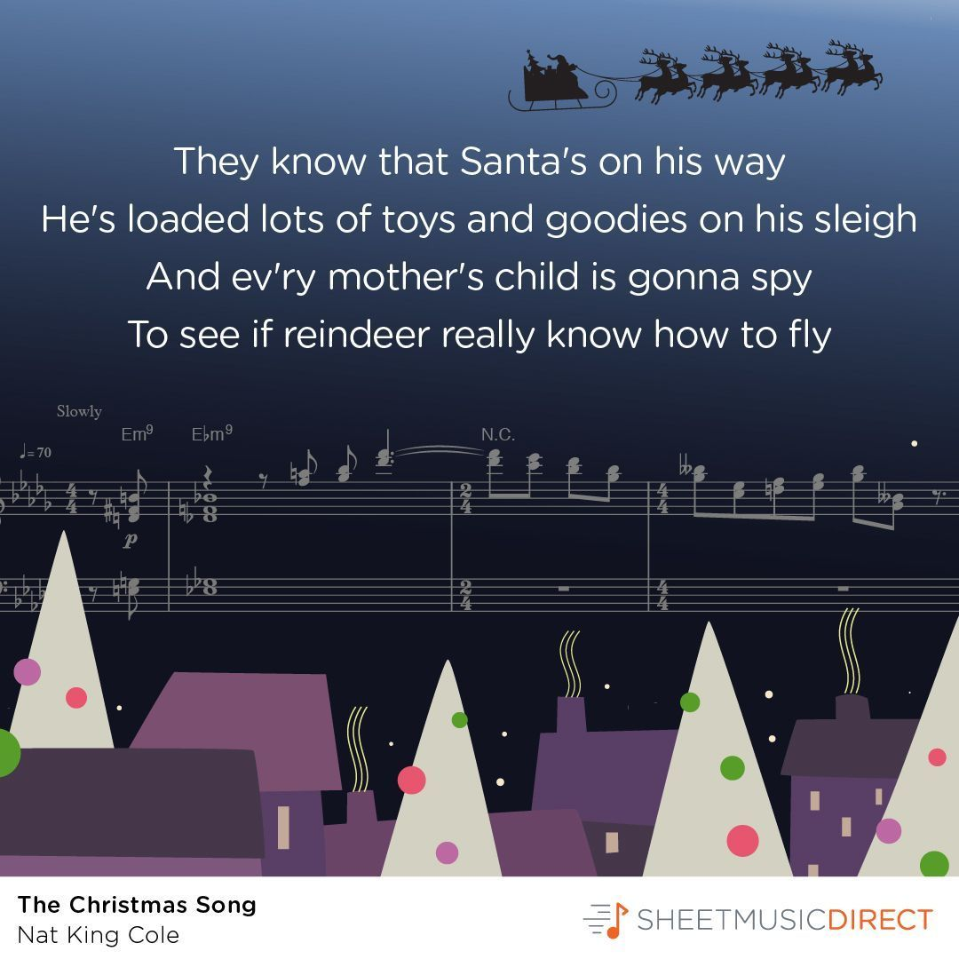 """""""The Christmas Song (Chestnuts Roasting On An Open Fire)"""" by Nat King Cole #SheetMusic # ..."""