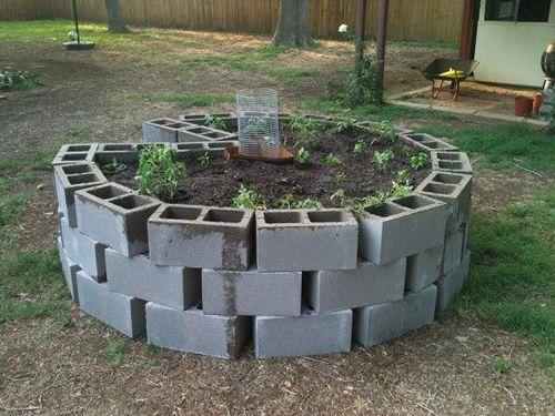 Diy Cinder Block Keyhole Garden Keyhole Garden Garden Planning
