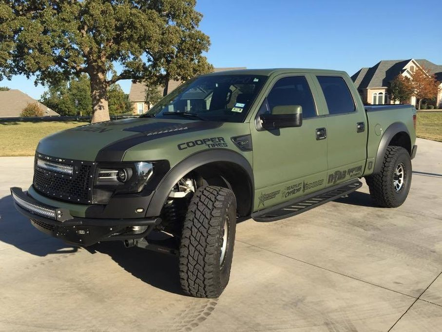 Army Green Ford Raptor Ford Raptor Trucks Truck Accessories Ford