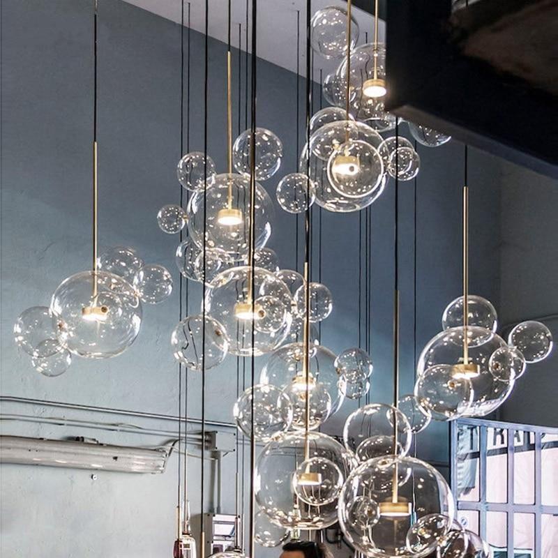 Soap Bubble Ball Fixtures Indoor Lighting Modern Pendant Light Indoor Lighting Modern Light Fixtures