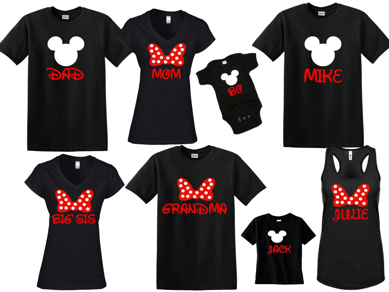 fce15bec6 DISNEY Mickey & Minnie Disneyland Disneyworld family trip vacation - matching  shirts tshirts with custom