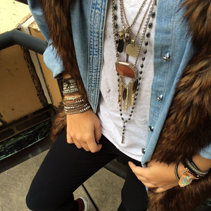 Layering with Chan Luu <3 Shop the perfect layering accessories at www.chanluu.com