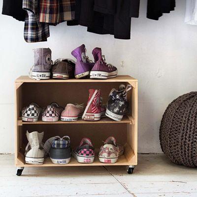 Little nice things - Schuhregal aus rollen Deco Pinterest - wohnideen wenig schlecht