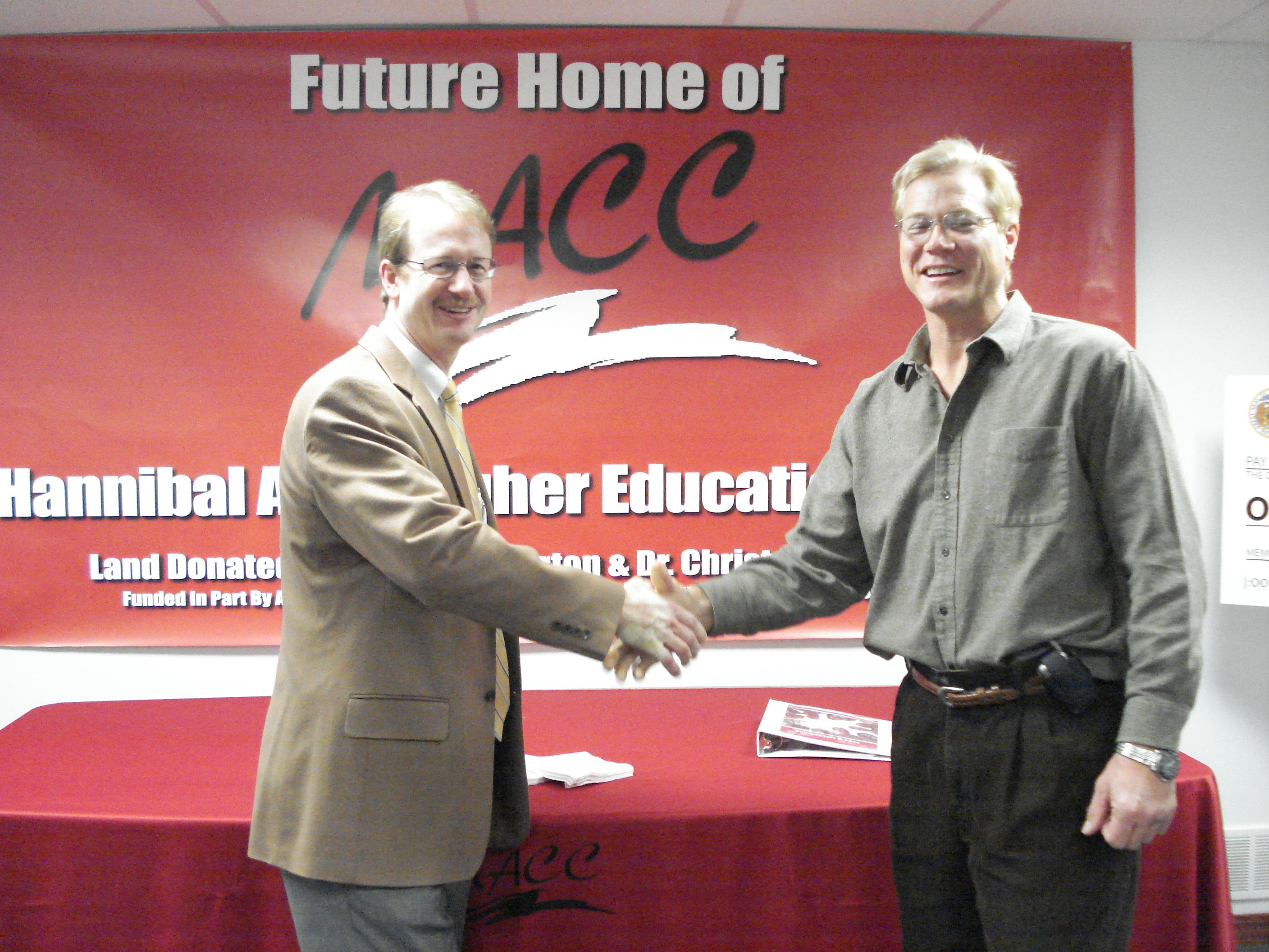 Drs. Burton and Bieniek donate almost six acres for community college.