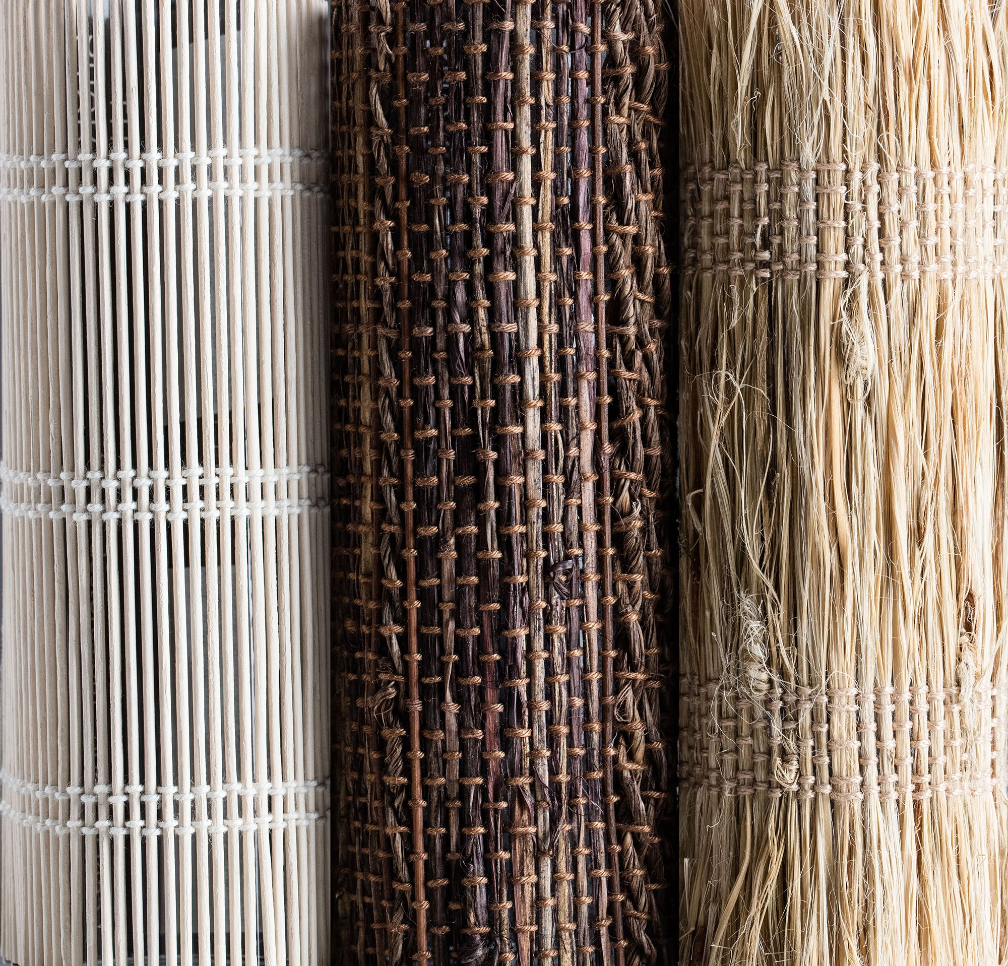 Our Bamboo + Grass material collection for Woven Wood Shades ...