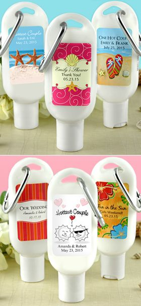 Sunscreen Favors With Carabiner SPF 30