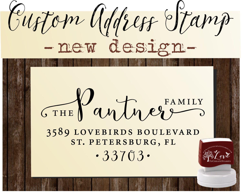 Return Address Stamp Custom address stamp by lovetocreatestamps