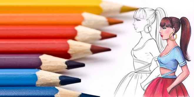 How To Color With Colored Pencils I Draw Fashion Fashion Illustrations Techniques Fashion Drawing Illustration Techniques