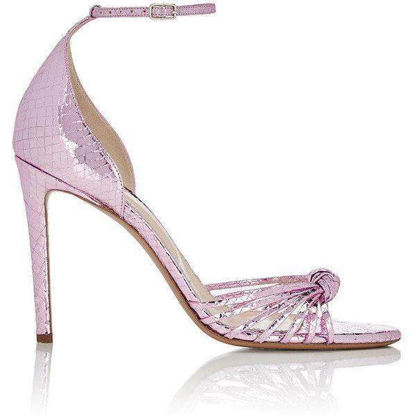 Altuzarra Women's Parker Patent Leather Pumps (€745) ❤ liked on Polyvore featuring shoes, pumps, pink, high heel shoes, pink high heel pumps, peep toe pumps, patent peep toe pumps and high heeled footwear