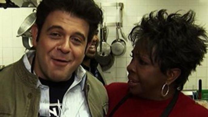 Adam Richman & Gladys Knight (Gladys and Rons Chicken and Waffles - Atlanta, GA)