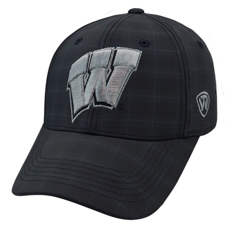 Adult Top of the World Wisconsin Badgers Ignite One-Fit Cap, Black