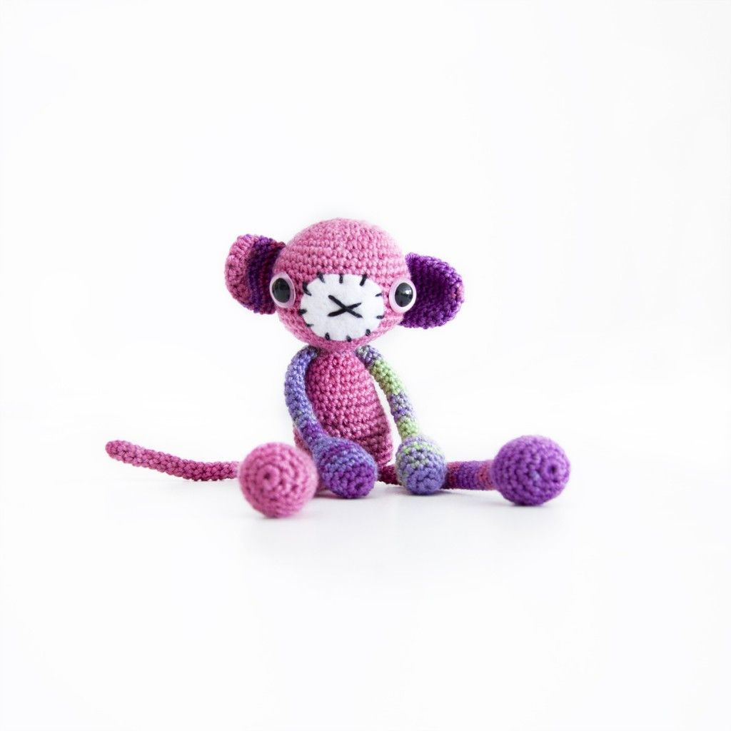 Crochet Monkey. Free pattern | Crochet Amigurumi Cuties | Pinterest