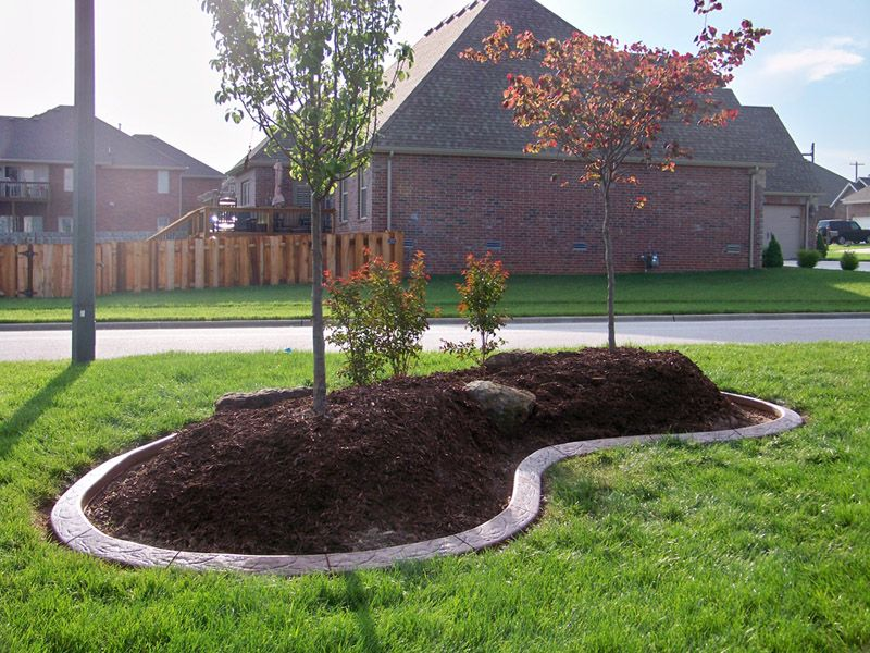 landscaping around trees concrete border applications for landscape - Flower Garden Ideas Around Tree