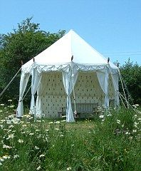 CUPOLA TENT for #gl&ing from £2300 Beaumont Westbury White Canvas Tents  & So out itu0027s in: Get a whole lot more from your garden | Tents