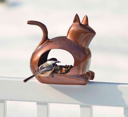 Enchanted Cat - Bird Feeder