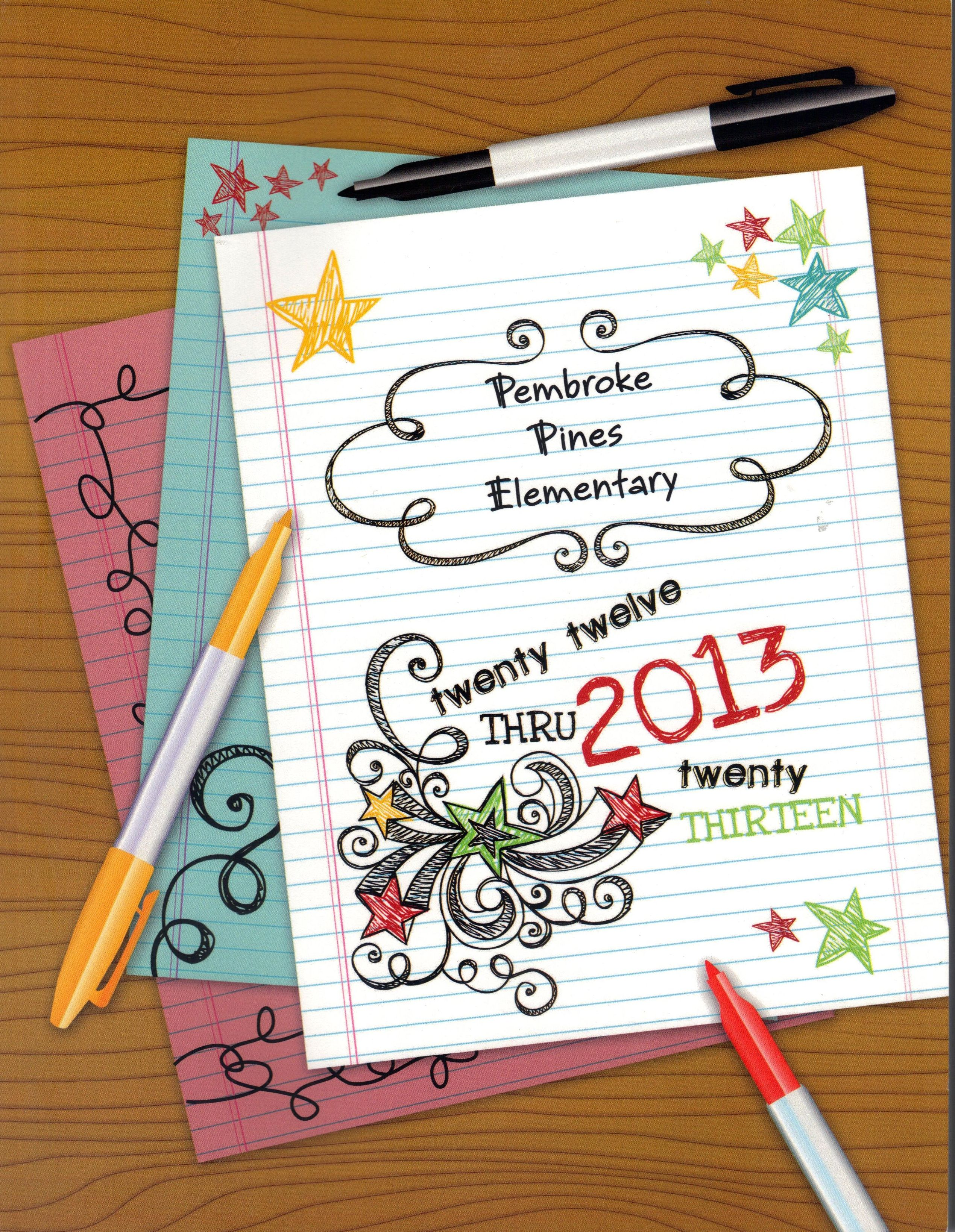 Yearbook Cover Template : Pembroke pines elementary yearbook cover