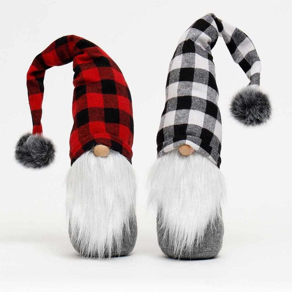 Buffalo Plaid Gnome Wood Nose Shelf Sitter Assorted In 2020 Plaid Decor Buffalo Plaid Decor Gnomes