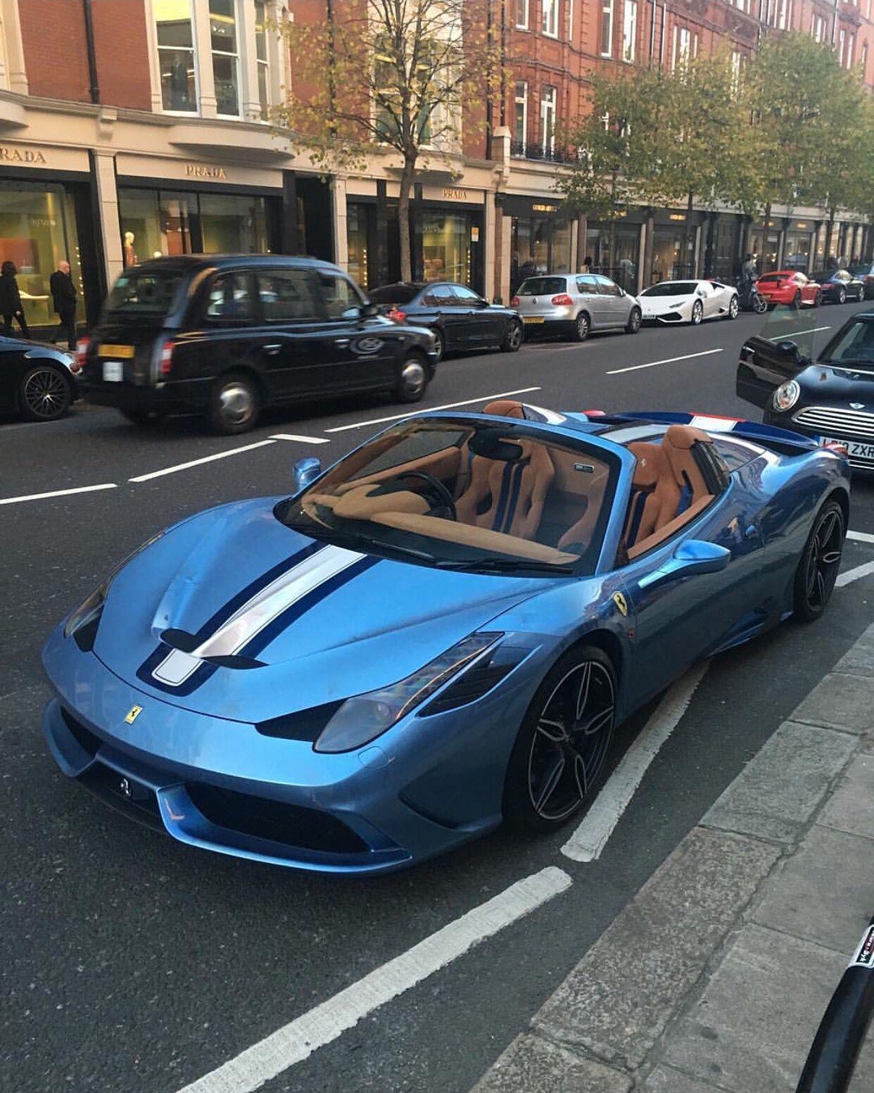 Ferrari 458 speciale a painted in azzurro california photo taken by cars fandeluxe Gallery