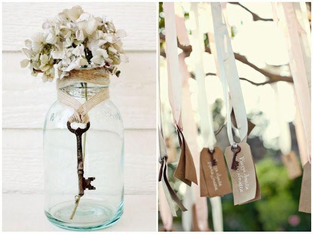 wedding decor vintage keys #wedding