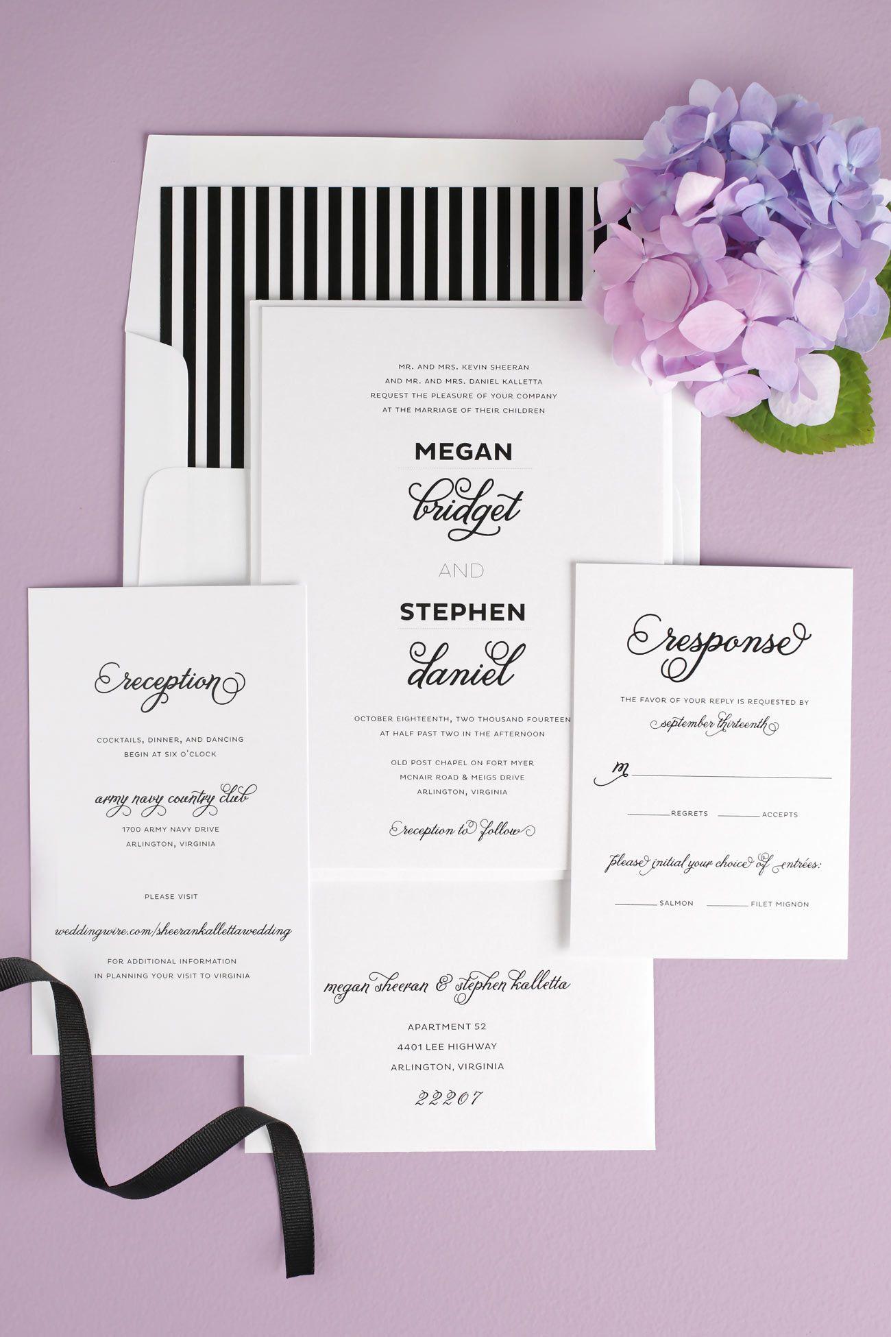 Modern and Whimsical Wedding Invitations   Weddings, Wedding and ...