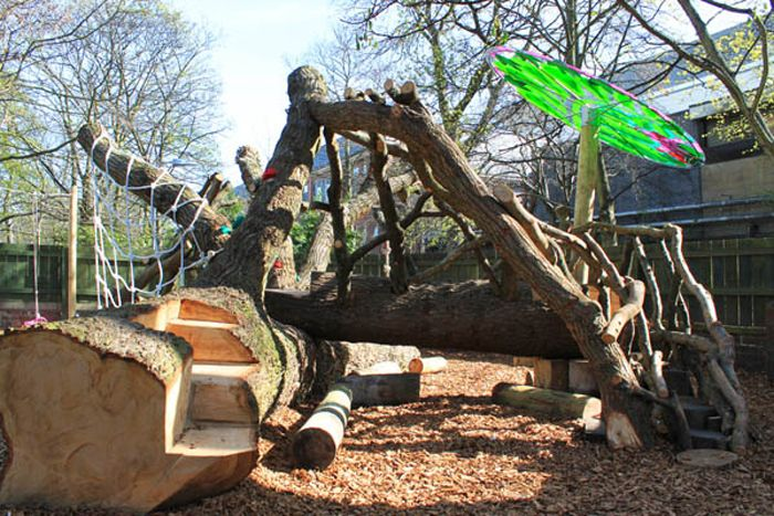 natural climbing structures challenge children s abilities in an