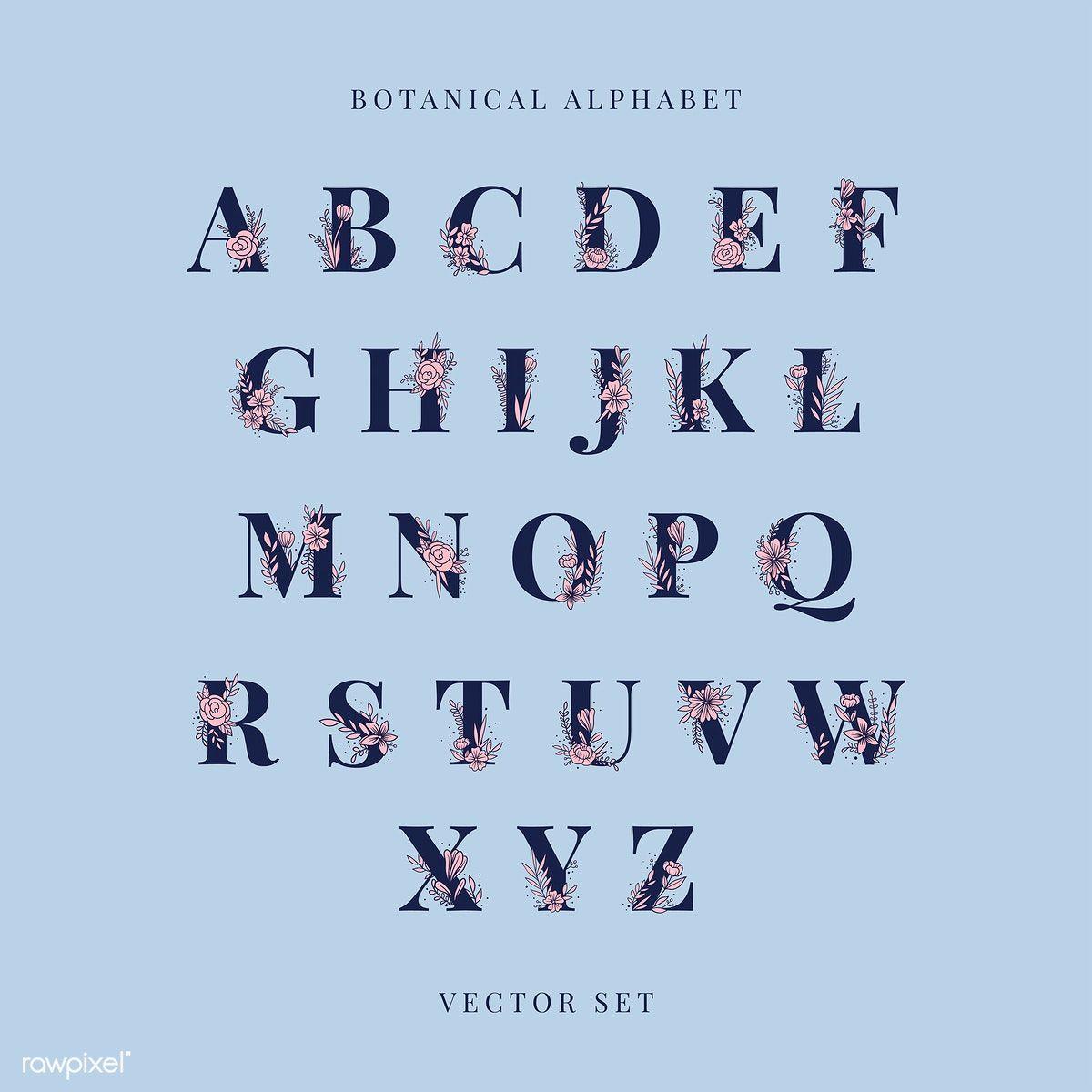 Download Premium Vector Of Botanical Alphabet Capital