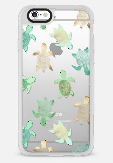 New Standard iPhone 6 Plus Case - Turtles on Clear | iphone ...
