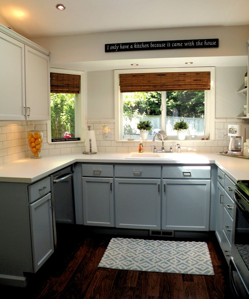 Allure Flooring Ikea Cabinets And Ikea Cupboards: Ikea Pragel Countertops And A White Backsplash...cheep And