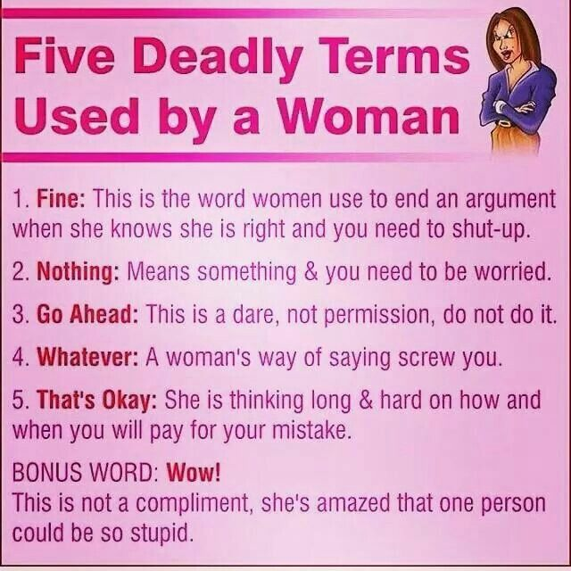 Words women want to hear