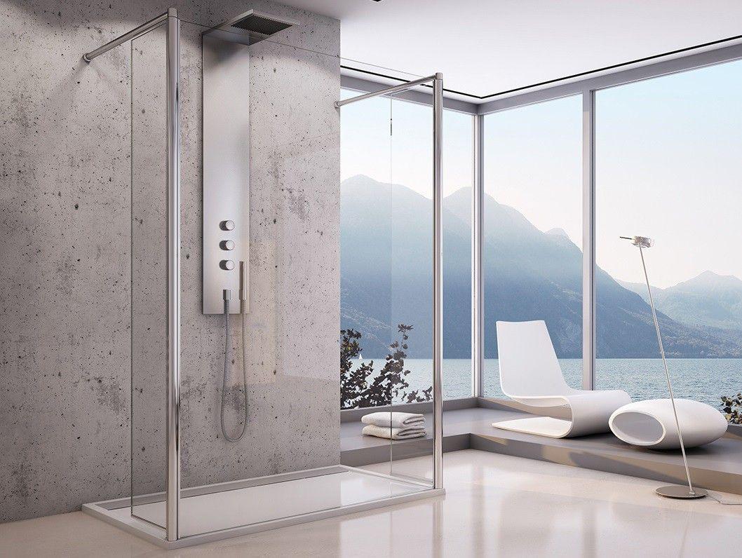 freistehende Duschtrennwand 120 x 200 cm Duschtrennwand