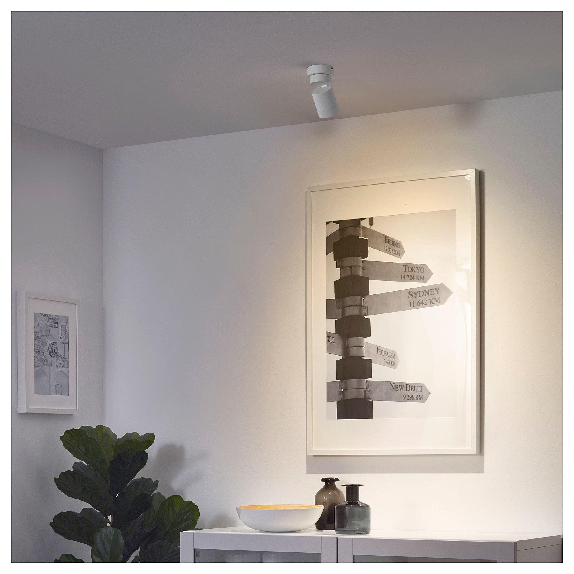 Nymane Deckenspot 1 Spot Weiss Ikea Osterreich Ceiling Spotlights Ikea Ceiling Lamp White