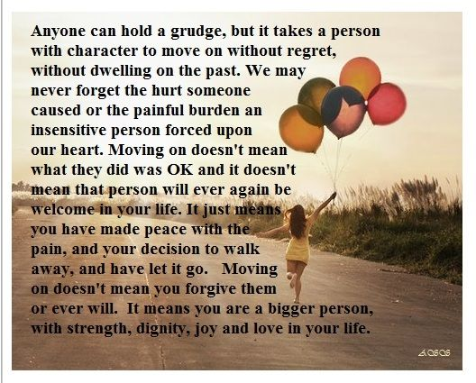Why Do People Hold Grudges Move On Without Regret Or Dwelling On The -9971