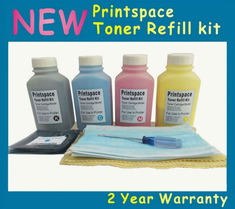 4x Non Oem Toner Refill Kit Chips Compatible For Fuji Xerox