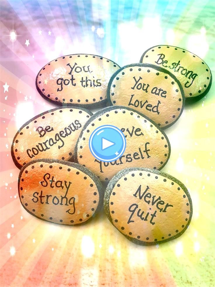 Rocks with Words of Encouragement Painted Stones for Military Affirmation Stones for Pocket Rocks with Words of Encouragement Painted Stones for Military Affirmation Ston...
