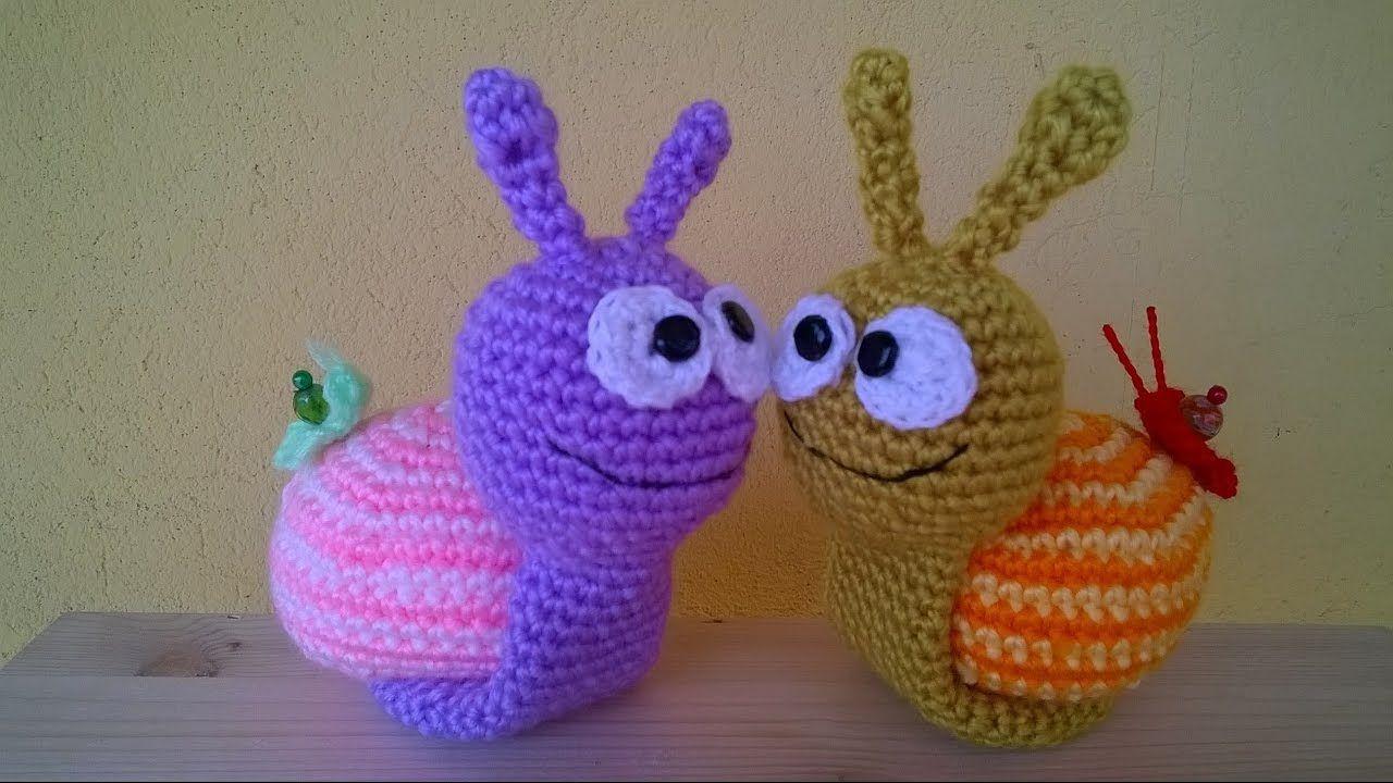 Lumaca Uncinetto Amigurumi Tutorial Snail Crochet Caracol Croche