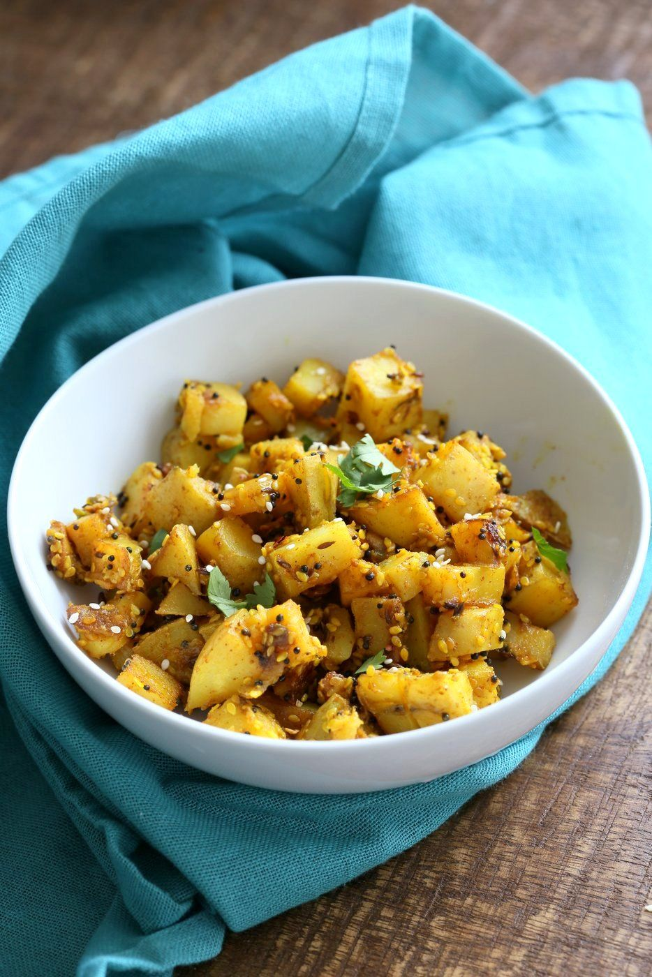 Gujarati potatoes with sesame seeds bateta nu shaak recipe food forumfinder Gallery