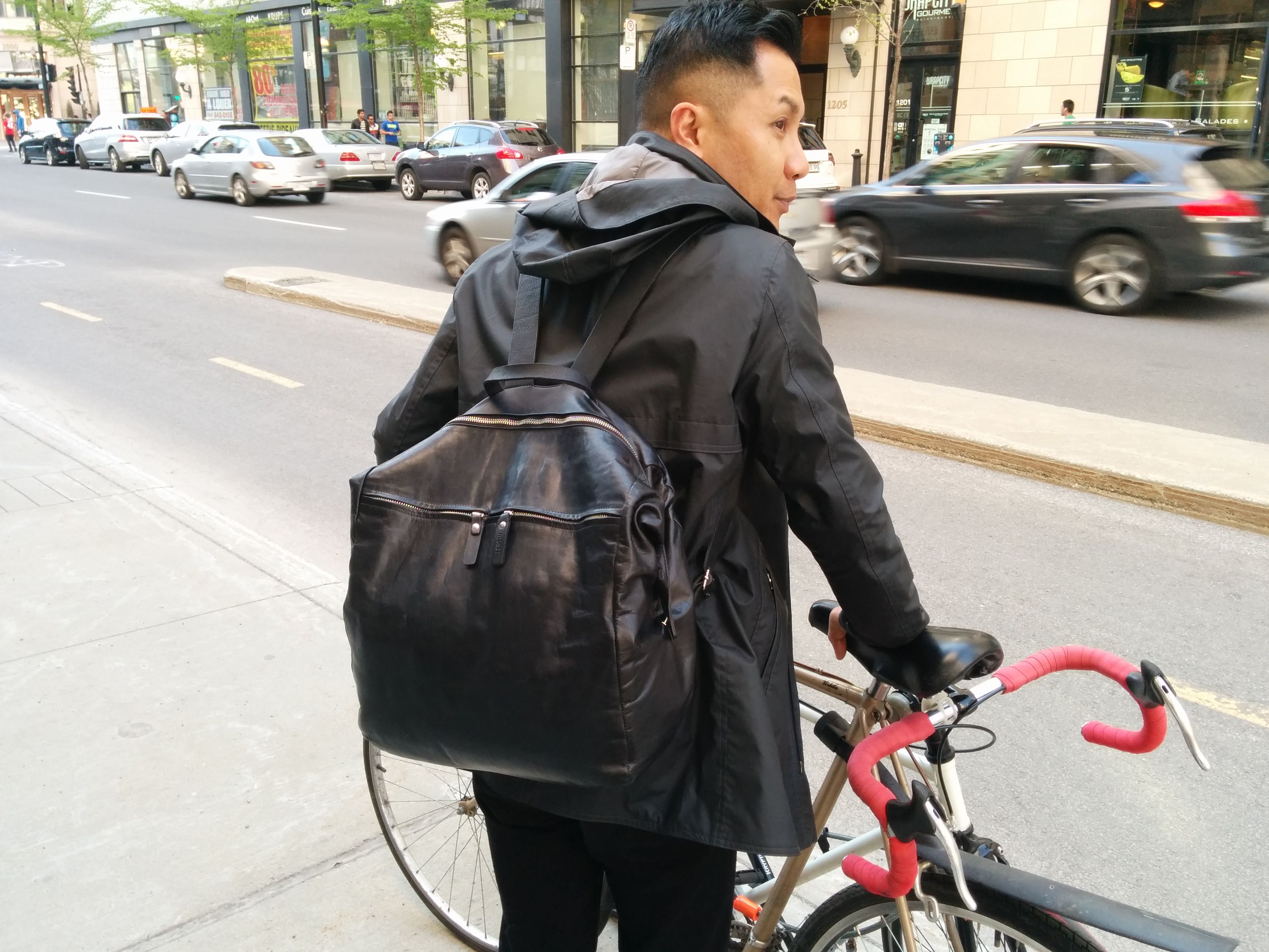 mo851 Everyday essentials, Leather Backpack, Montreal