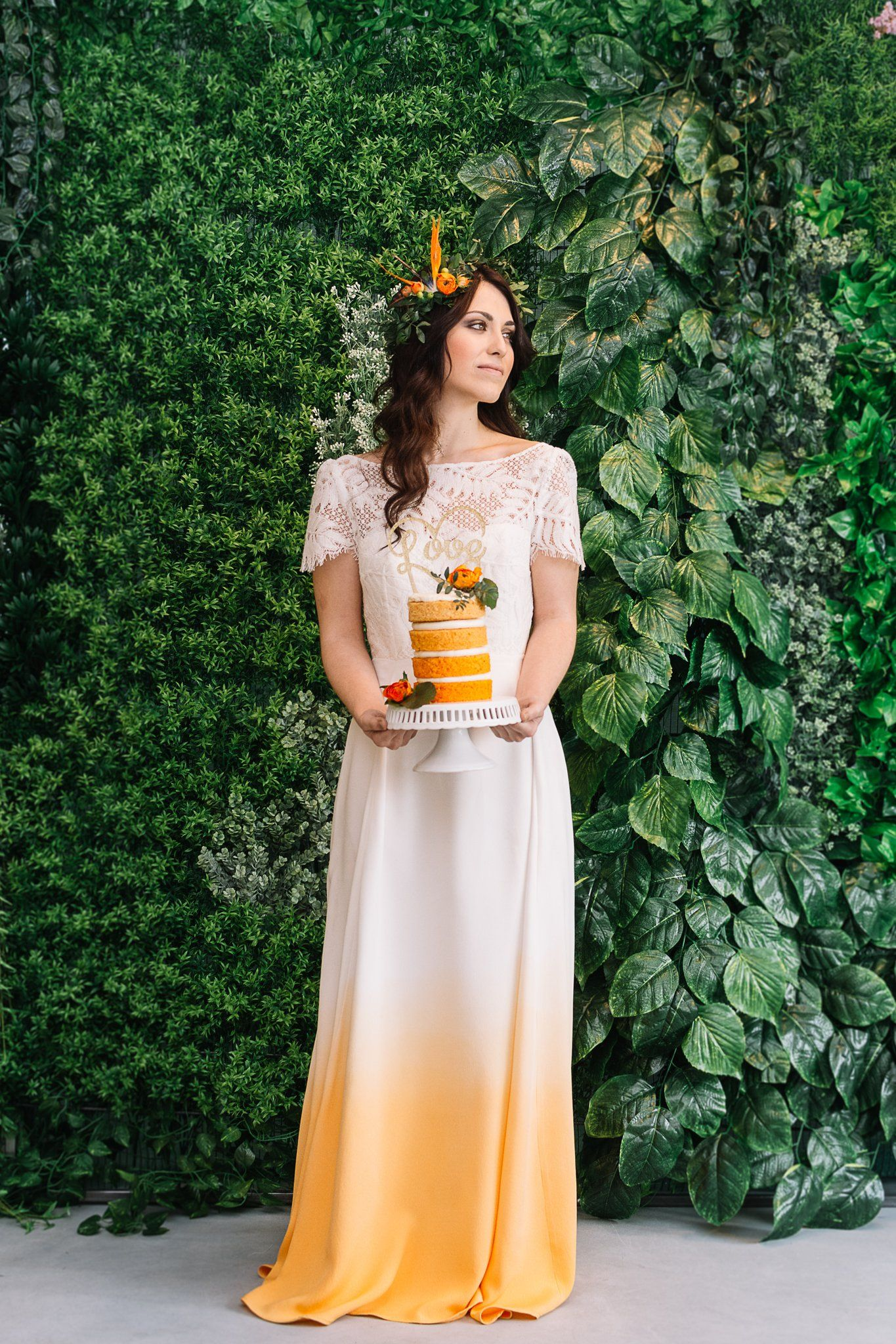 Dye wedding dress after wedding  Ziggy Stardust  Orange dip dye u Lucy Canut Dance  Wedding shtuff