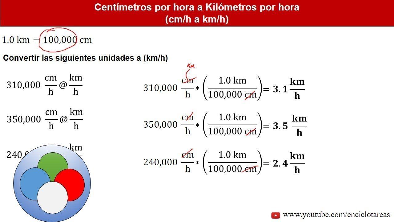 Centímetros Por Hora A Kilómetros Por Hora Cm H A Km H Parte 2 Youtube Conversion De Unidades Ejercicios Resueltos Matematicas