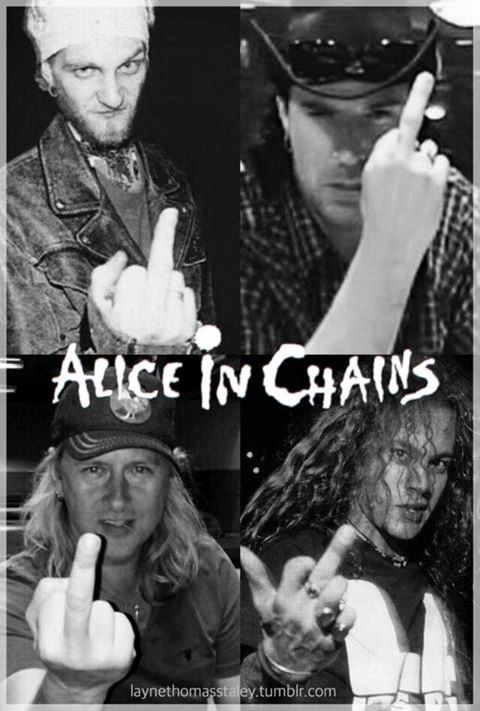 Alice in chains 's middle fingers