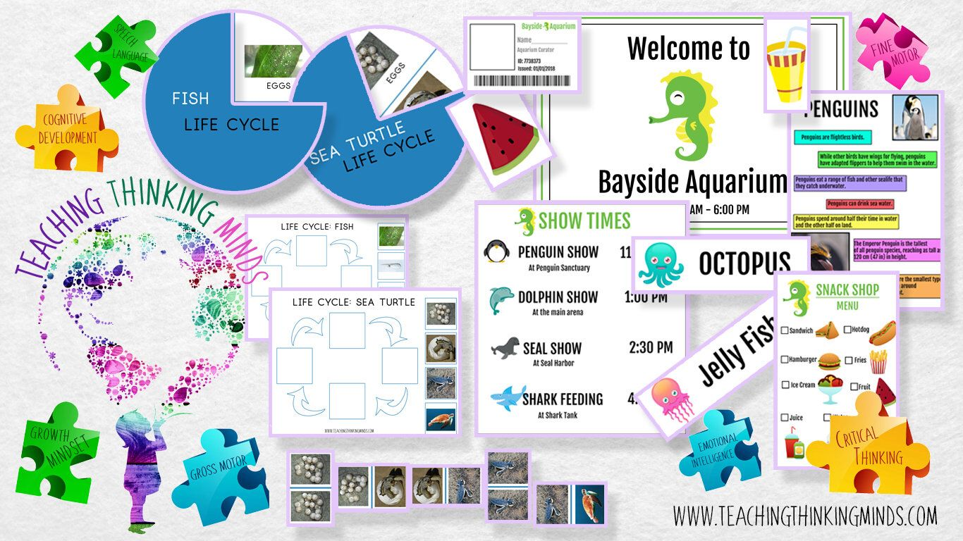 The Role Of Imaginative Play In Life Of >> Aquarium Ocean Sea Pretend Play Dramatic Play