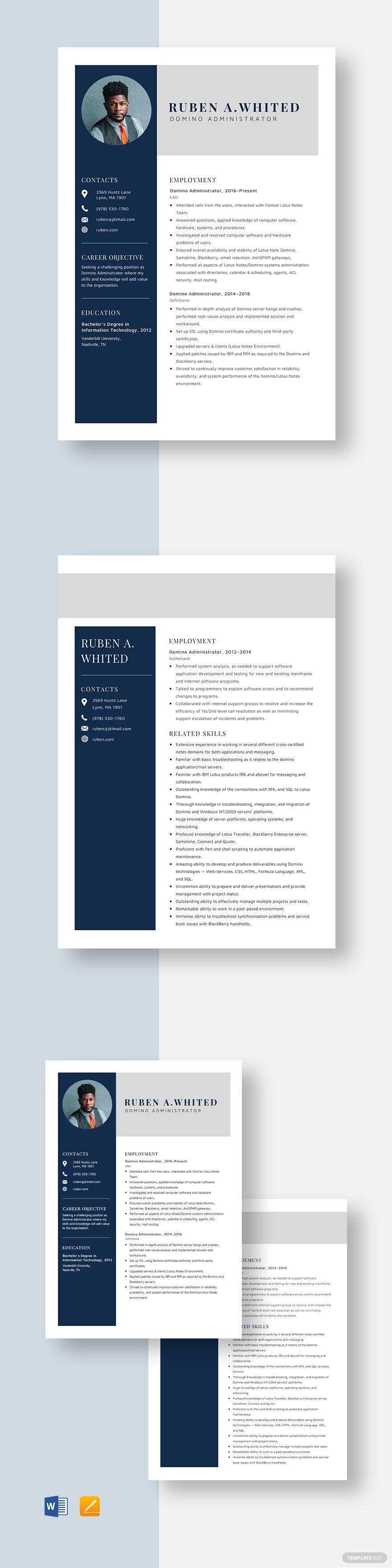CV Template/Resume Bailey Resume templates, Simple