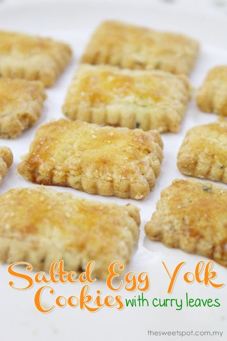 Basic butter cookie with a twist Salted egg yolk and curry leaves - basic p&l template
