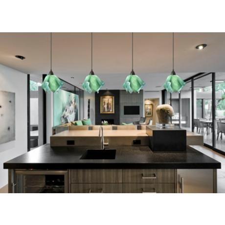 Blue green pendant lights home design ideas jezebel radiance seafoam green small flame pendant light aloadofball Images