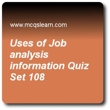 Uses Of Job Analysis Information Quizzes Bba Hrm Quiz