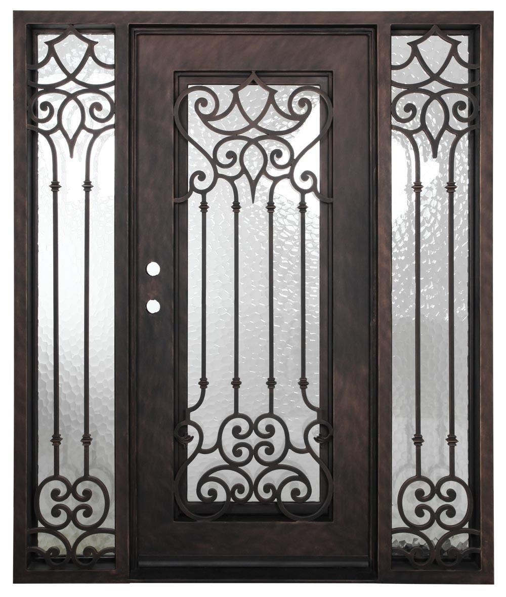 5 9 X6 8 Carmen Exterior Triple Wrought Iron Door Wrought Iron