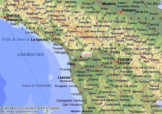 Cities In Tuscany Italy Map Of Tuscany And Central Italy - Printable map of tuscany